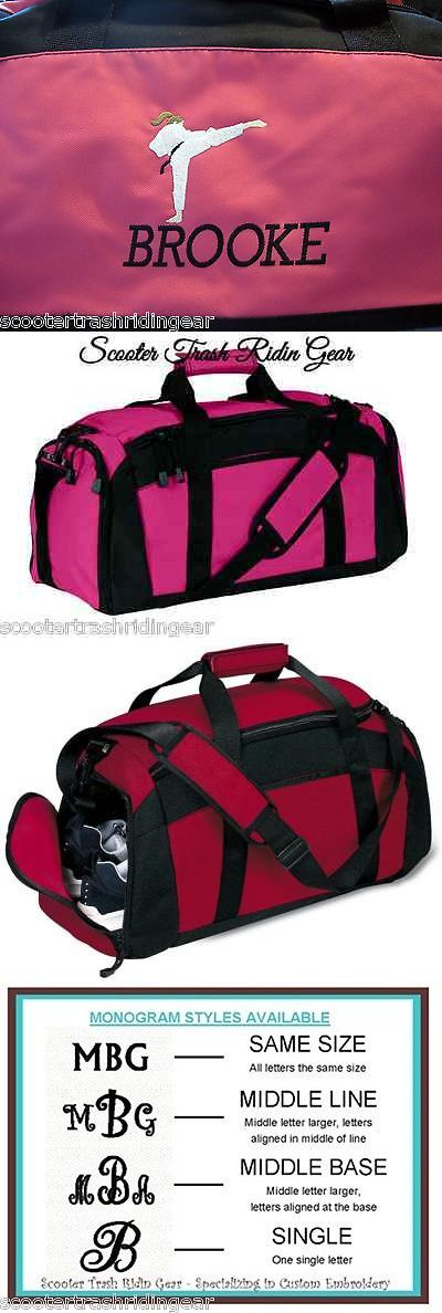 Other Combat Sport Supplies 16044: Personalized Karate Girl Duffle Bag Gym Sport Duffel Hot Pink New Monogrammed BUY IT NOW ONLY: $38.99