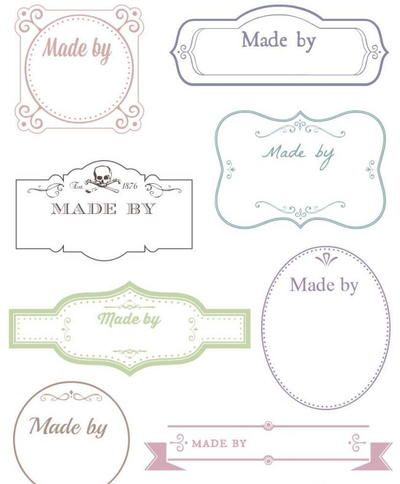 "For lovers of vintage crafts, be sure to print out the Sepia and Taupe Card Making Labels. These free printable labels are available with and without the words ""made by"" on them. Add these labels to the backs of handmade cards or gifts."