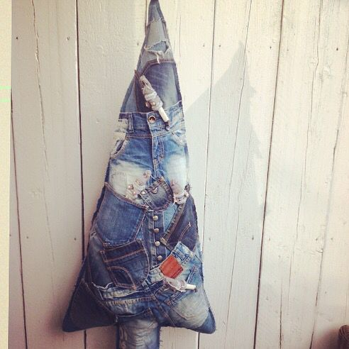 Recycle jeans kerstboom