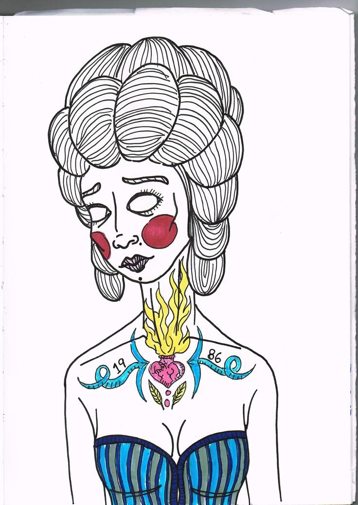 Maria Eugénia (sketch) - São Marias project - 2012, by Maria Oliveira.