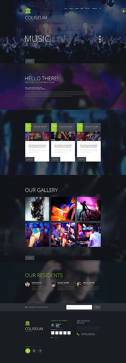 Night Club Website #Joomla #template. #themes #business #responsive #Joomlathemes