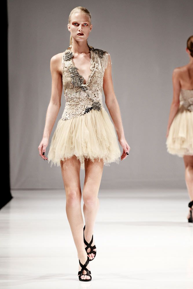 Champagne Lace <3 trash couture - future vintage - hand made couture dresses - COLLECTIONS - SS 2012