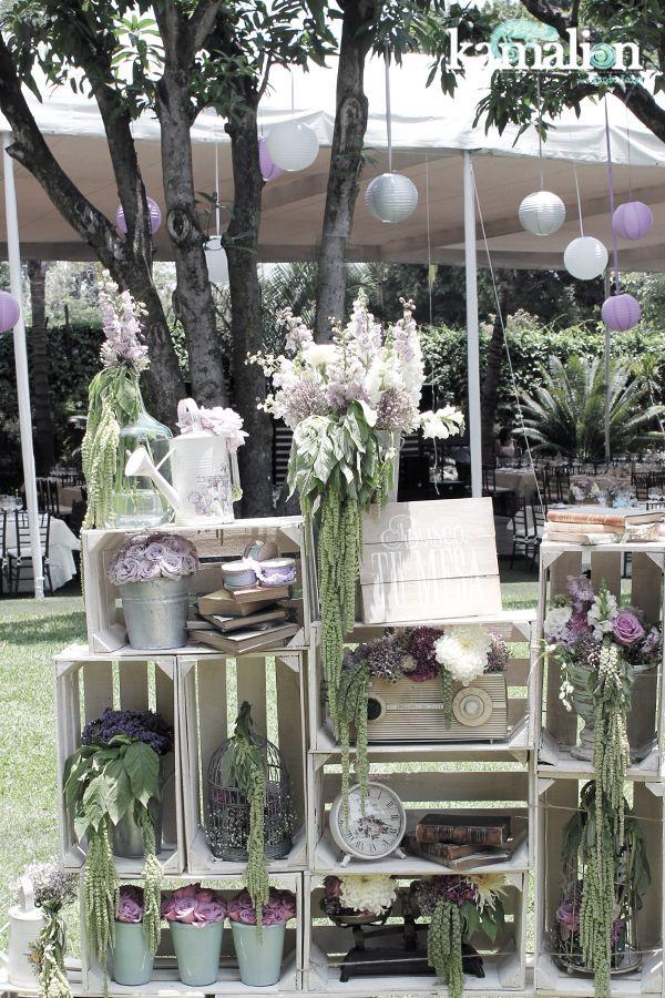 Decoraci n vintage rustic - Arreglos de flores para bodas ...
