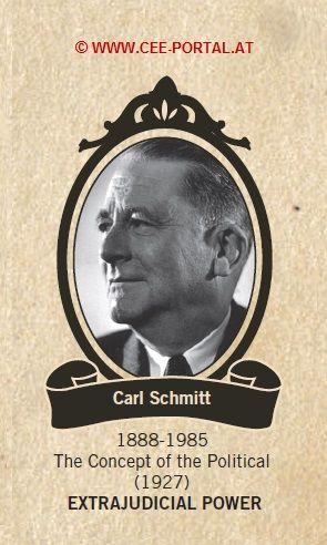 Carl Schmitt 1888-1985 The Concept of the Political (1927) EXTRAJUDICIAL POWER