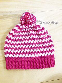 Easy V-stitch hat