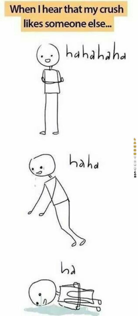 When I hear my crush likes someone else