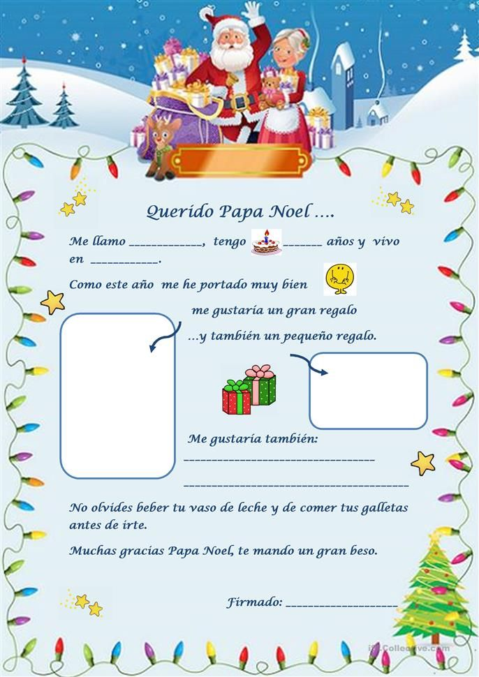 Lettre Pere Noel Disney.Carta A Papa Noel Ohs Spanish Club Lettre Pere Noel