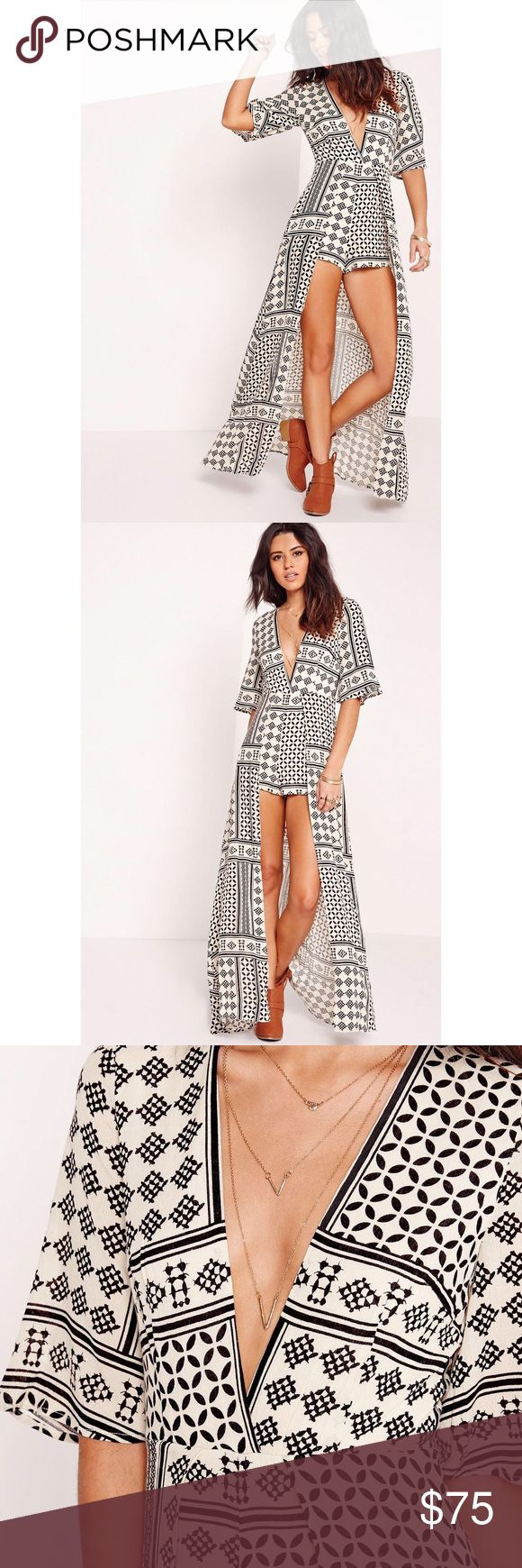 MISSGUIDED Aztec Maxi Playsuit Perfect for Coachella / summer time! Brand new with tags! Missguided Dresses