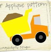 Dump Truck Applique Template Quilt Shirt - via @Craftsy
