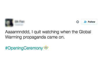 17 People Who Were Super Mad About The Opening Ceremony's Global Warming Video