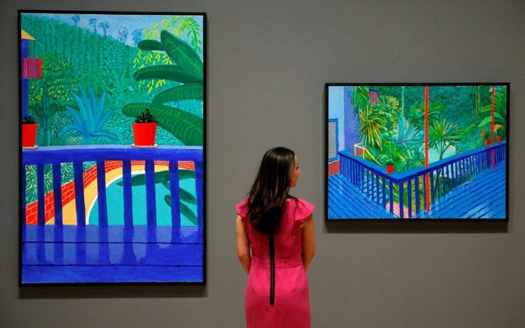 Two pots on the Terrace and Garden Three by David Hockney. Reuters/Neil Hall - Flipboard
