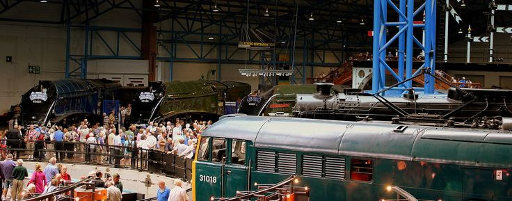 THE GREAT GATHERING OF SIX NIGEL GRESLEY DESIGNED A4 PACFIC CLASS LOCO AT THE NATIONAL RAILWAY MUSEUM YORK JULY 2013 (9255903239).jpg