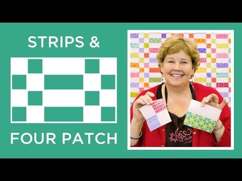 The Strips and Four Patch Quilt                                                                                                                                                     More