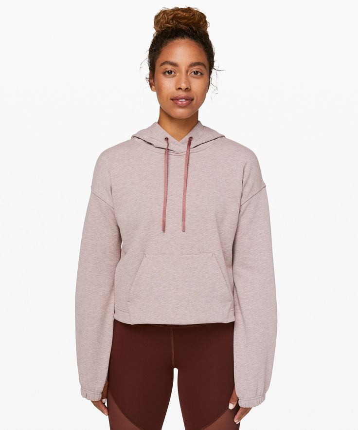 lululemon Women's Stronger As One Cropped Hoodie lululemon X Barry's, Heathered Red Dust, Size 8