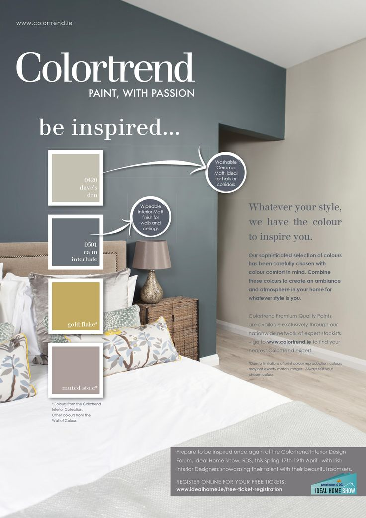 Pin by Colourtrend Paints on Inspiring Ads | Bedroom paint ...