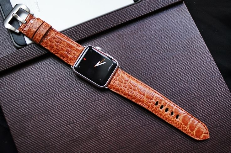 Ostrich Leg Leather Watch Strap for Big Watch or Apple Watch 1 and 2  100% Handmade  Description:  Ostrich Leg Leather Watch Strap for Big Watch or Apple Watch 1 and 2  Material: Genuine Leather  Standard Length: 125 mm/ 75 mm  Thickness: 4-5 m...