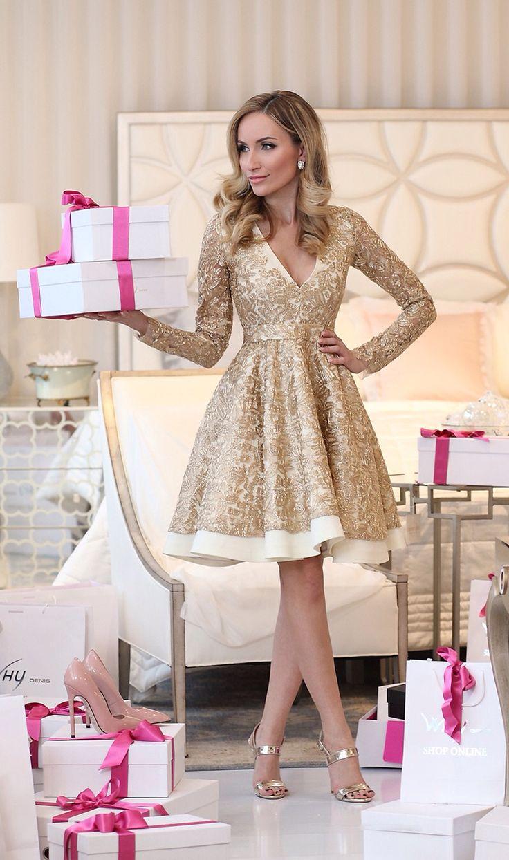 Golden dress by Postolatieva