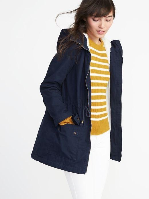 fa913408a8e55 Sherpa-Lined Utility Jacket for Women   Utility Jacket   Jackets for ...
