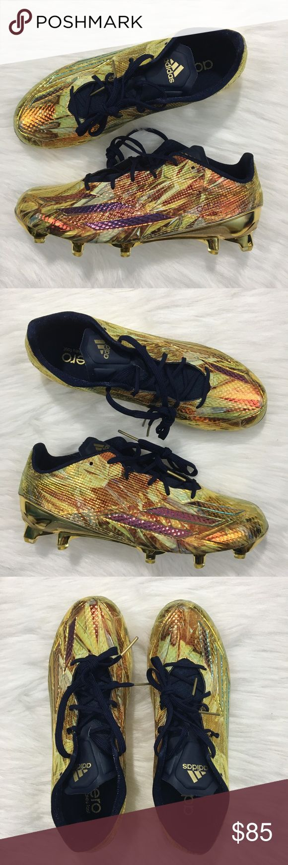 Adidas AdiZero 5-Star 5.0 Football Cleat Gold Brand new without box.Adidas AdiZero 5-Star 5.0 Football Cleats in a US MENS 8.5. Style code: AQ8177. Gold/Maroon colorway. Amazing metallic look throughout. Please inspect all photos carefully. Thanks for viewing! adidas Shoes Athletic Shoes