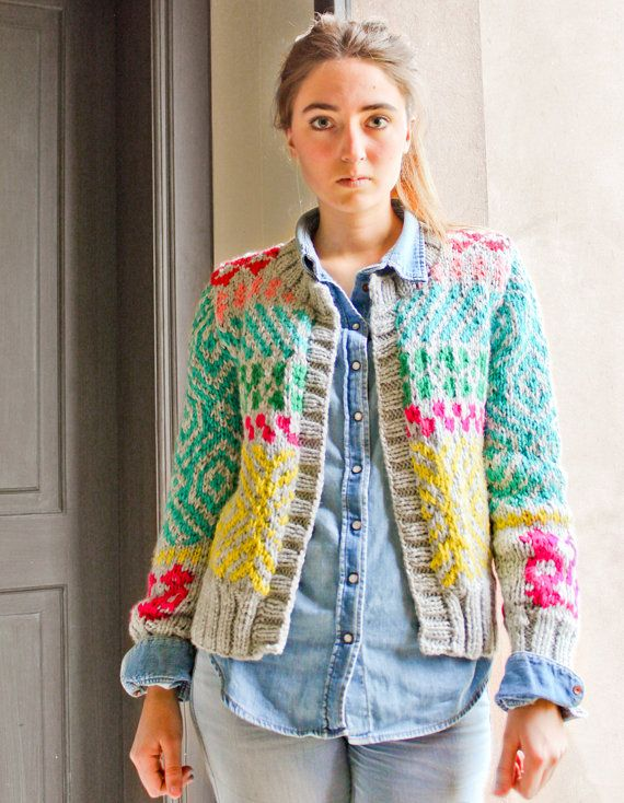 Click to enlarge | Hand Knit Cardigans | Pinterest
