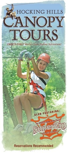 Hocking Hills zip line tour, on the agenda for this summer or fall.