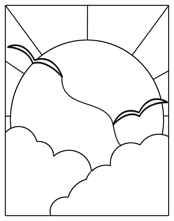 Image detail for -stained glass patterns for free: Stained glass sun patterns