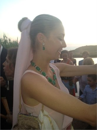 Beatrice at the wedding of Carlo Borromeo and Marta Ferri, 30 June, 2012