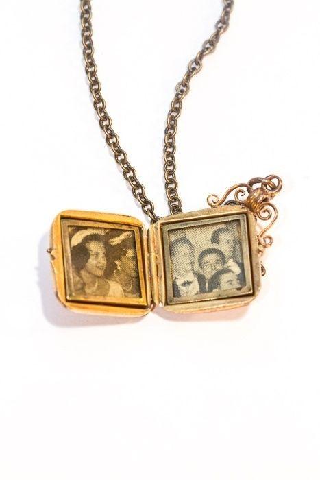 Smykke: - Fra mormors skattekiste: Vintage medaljong