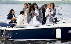 Parents, Brother, Sister and Uncles bid farewell to Anni during a ceremony for her.