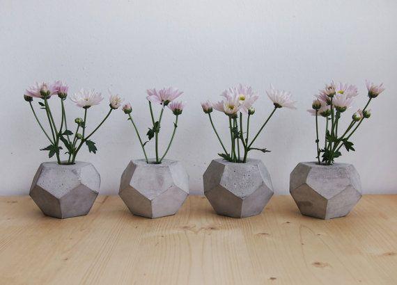 Concrete Geometric Minimalist Vase geometrical by frauklarer, €20.00