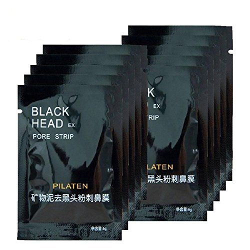 25 Pack PILATEN Blackhead Remover, Tearing Style Deep Cleansing Purifying Peel Off the Black Head, Acne Treatment, Black Mud Face Mask 6g ** Find out more details by clicking the image : Natural SkinCare