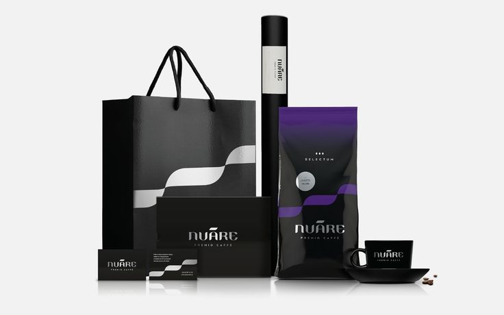 Nuáre is a new brand developed by Premio Group which delivers coffee goods. Anton Kostenko was commissioned to develop the brand identity for Nuáre including package, stationery, presenter kit, website etc.   The inspiration for the identity was brought by the name Nuáre  – which is a combination of two words: (fr.) NOIR — black and (lat.) AURA — waft, breeze blowing or invisible energy.
