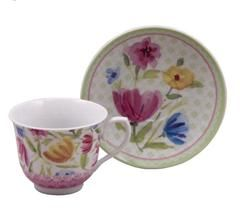 Bulk Discount Inexpensive Wholesale Tea Cups (Teacups) - Pink Tulip Discount Tea Cups And Saucers Case Of 24 Cheap Priced For Events - New!