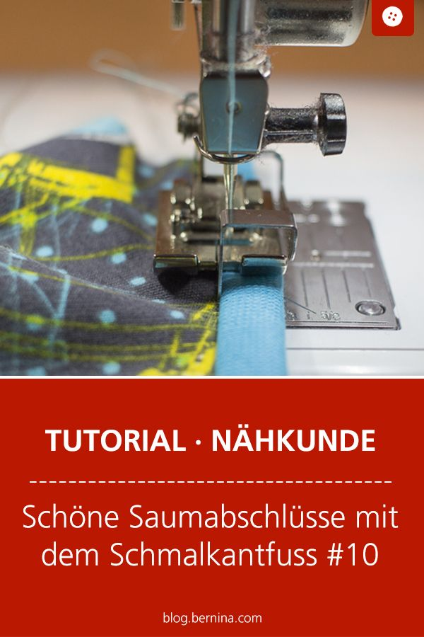 How to create beautiful seams with the Schmalkantfuss # 10