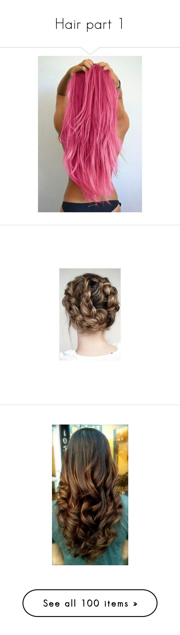 """""""Hair part 1"""" by sirius-james-remus ❤ liked on Polyvore featuring hair, hairstyles, włosy, beauty products, haircare, hair styling tools, cabelos, beauty, hair styles and coiffure"""