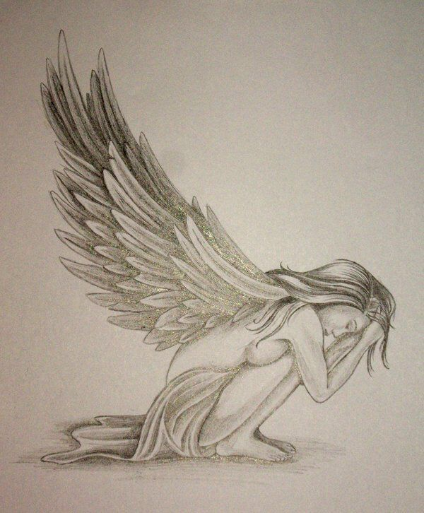 Angel Tattoo Design by DanielleHope on @DeviantArt
