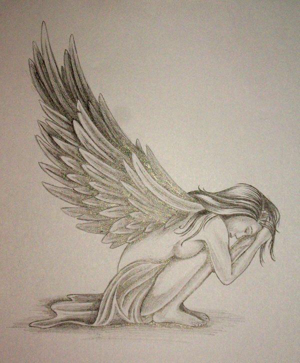Angel Tattoo Design by DanielleHope on @DeviantArt