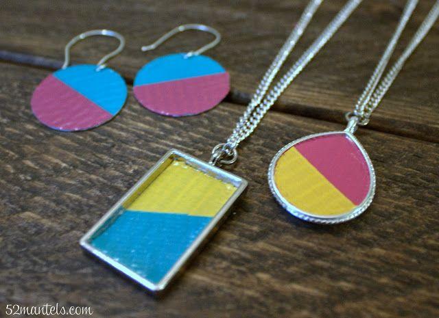images about Washi tape jewellery Washi Tape