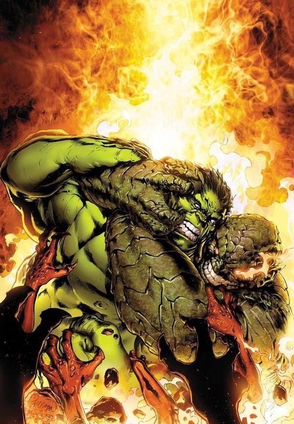 Hulk vs Abomination by Carlo Pagulayan