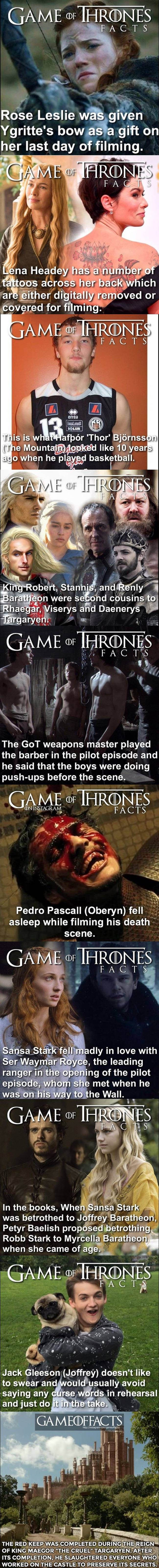 Game of thrones facts part 3