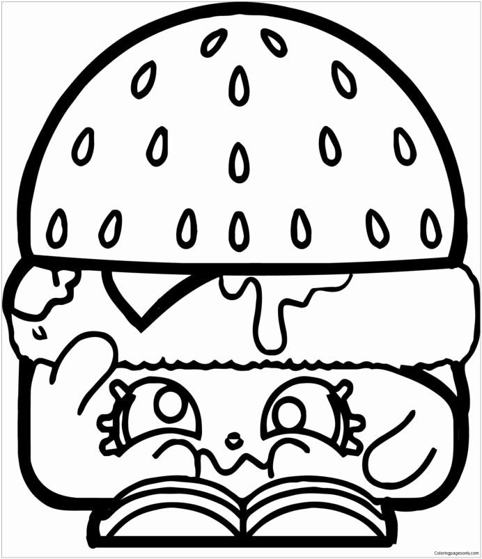 Free Printable Coloring Pages Shopkins Unique Hamburger Shopkins Coloring Free To Pdf Hmh Go