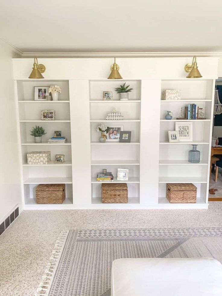 IKEA Billy Bookcase Hack DIY Built In Bookcase House of