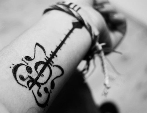 Music and guitar tattoo ♥