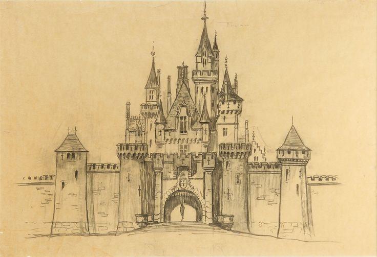 Disneyland Castle Drawing Middle Ages Renaissance