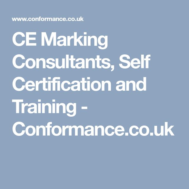 CE Marking Consultants, Self Certification and Training - Conformance.co.uk