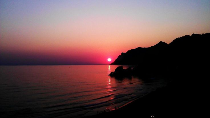 Beautiful Greek sunset #Greece #Corfu