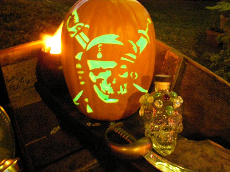 Pirates of the Caribbean pumpkin.this took 4 hours. Find this Pin and more  on Halloween pumpkins ...