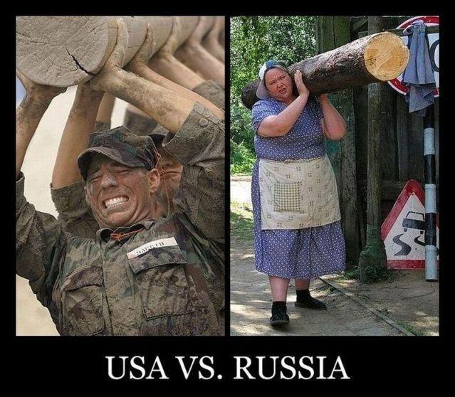 Демотиватор: USA vs. Russia