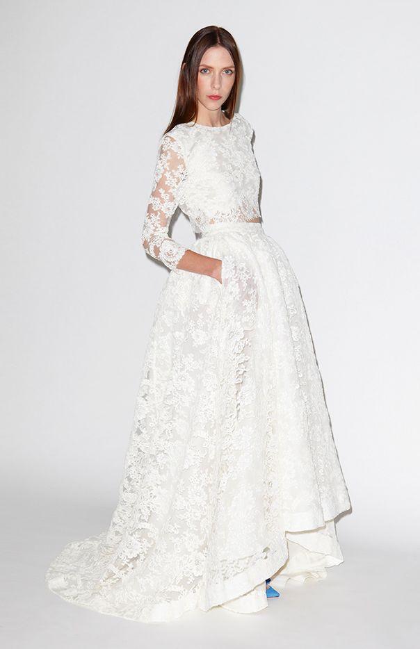 Este conjunto de doble encaje: | 36 vestidos de novia de dos piezas ultra glamorosos