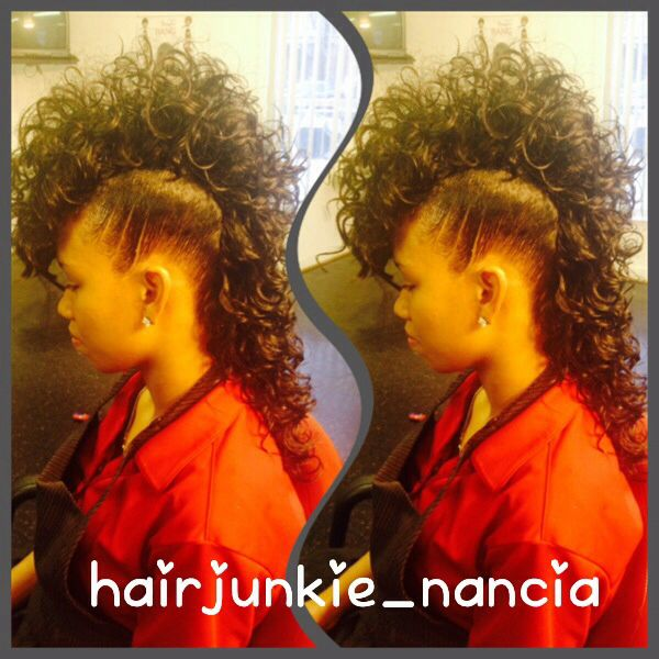 Quick Weave Long Mohawk Hairstyles Mohawks Quick Weave And